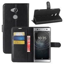 Cartera De Bolsillo Negro Premium para Sony Xperia XA2 Muy