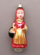 Christmas Tree Ornament Red Riding Hood Russian Glass Vintage Old XMAS New Year