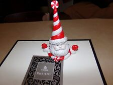Partylite Peppermint Santa Candle Snuffer & Tealight Holder With 3 Candles