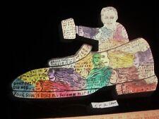 "Howard Finster Folk Art Outsider ""If Shoe Fits"" Cut Out 1988   8,162 works"