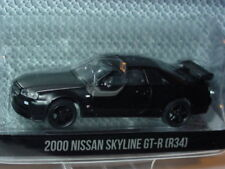 Greenlight Black Bandit 2000 NISSAN SKYLINE GTR 34 IMPORT CAR 1:64 -NEW!