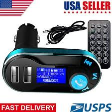 Car Bluetooth FM Transmitter Wireless MP3 Radio Player Charger Kit With Dual USB