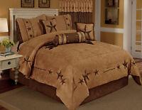 Camel Brown Texas Star Western Star Luxury Comforter - 7 Pieces Set