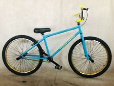 "2020 R4 26"" Complete BMX Bike Cruiser Bicycle W/ Stunt Pegs (Blue & Gold)"