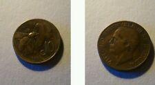 Moneta Regno d'Italia 10 centesimi 1928 Ape RARA