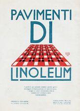 PUBBLICITA' 1925 PAVIMENTI DI LINOLEUM  FUTURISMO PROSPETTIVA GUIDO MARUSSIG