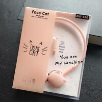 Cat Cute Stereo Headset Led Ear Foldable Headphone Music Headphones 3 5mm