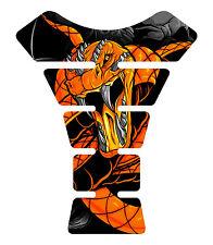Venom Orange Snake Skull Motorcycle Gel Gas tank pad tankpad protector Decal