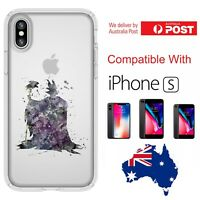 iPhone Silicone Cover Case Disney Silhouette Paint Abstract Princess - Coverlads