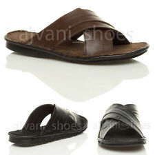 Men's 100% Leather Slip on Strapped Sandals & Beach Shoes