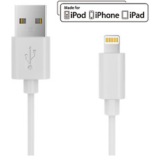 Apple MFI Certified Amp 3-ft Lightning USB Charger Sync Cable for iPhone & iPad