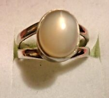 Handcrafted Genuine 10x8mm Oval Shape Moonstone Stone Silver 925  Ring skais M18