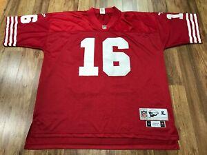 MENS XL - Vtg San Francisco 49ers #16 Joe Montana Reebok Gridiron Sewn Jersey
