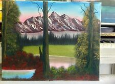 new mountains oil painting