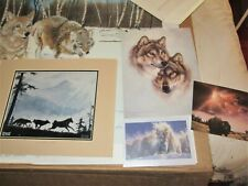 5 Arctic wolf & buffalo Art Posters woodland scenes schuster