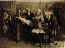"""Lithograph of a painted by Erskine Nicol: """"Disputed Boundary"""""""