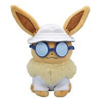Pokemon Center Original Plush Doll Eevee Assistant Wear Let's Go! Pikachu F/S