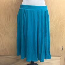 LuLaRoe Madison Skirt Large Solid Teal Green Blue Pockets NWT New (A225)
