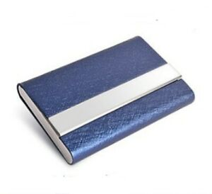 PU Leather Pocket Card Holder Metal Business ID Credit Card Holder Case Wallet