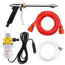 DC12V 60W 80PSI High Pressure Car Electric Washer Water Wash Pump Sprayer Kit UK