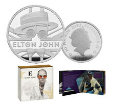 ELTON JOHN 2020 £10 5oz SILVER PROOF COIN VERY RARE 750 MINTED WORLD WIDE.