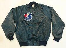 Vintage Auburn MLB Montreal Expos Nylon Jacket L Blue Made in USA