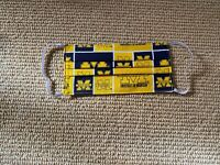 University of Michigan Handmade 100% Cotton Face Mask, Reusable and Washable