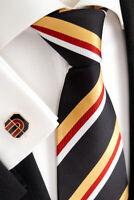 Handmade Luxury Silk Tie with Cufflinks 74.3 #11A