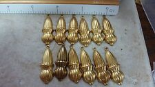 NOS brass stamping finding earring dangle drop (12) jewelry makers lot  A105
