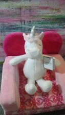 New Nwt Unicorn White Pink Carter'S Baby Lovey Plush Toy Carters