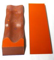 """2 Pcs SAFETY ORANGE / PURPLE  LAYERED .375"""" G10 KNIFE HANDLE MATERIAL SCALES"""