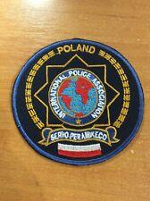 POLAND PATCH POLICE POLICIJA IPA  - ORIGINAL