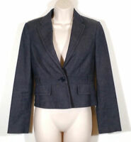 BCBG Max Azria Women Extra Small Suit Blazer Jacket One Button Cotton Wool Blend