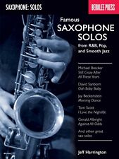 Famous Saxophone Solos from R&B Pop and Smooth Jazz Berklee Guide Book 050449605