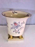 Urn Vase Ceramic Pedestal Floral With Golden Accents P-179 Marked on Bottom Used