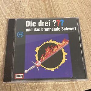 """CD Drei Fragezeichen ??? Folge 74 """" und das brennende Schwert """""""