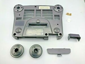 Nintendo N64 Gray Console Bottom Shell Casing Bundle with Other Parts