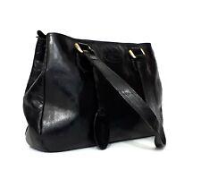 ASHWOOD Genuine Leather Black Handbag Shoulder Tote Bag