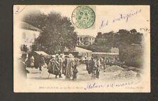 MOSTAGANEM (ALGERIE) Rue du Marché , JOUR DE MARCHE trés animée en 1903