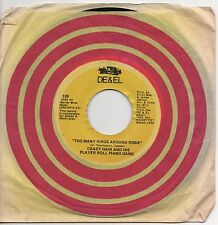 CRAZY HAIR AND HIS PLAYER ROLL PIANO GANG too many rings around rosie 1971 US 45