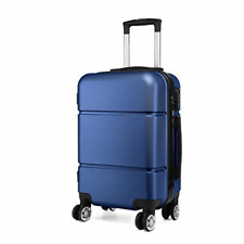 Kono Suitcase 20'' Travel Carry On Hand Cabin Luggage Hard Shell Travel Bag Navy