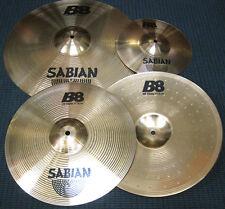 """Sabian B8 Cymbal Set Pack - 4 pieces: B8 HiHats 14"""", Crash Ride 18"""" & Splash 10"""""""