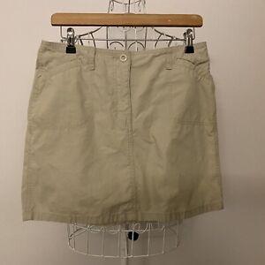 "New Look Beige Cargo Skirt Size 12 Waist 28"""