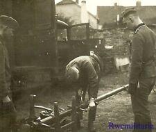 *Rare! German Elite Waffen Troops Working on Fixing Gear by Lkw Truck (#2)!*