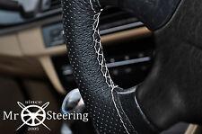 Perforata in pelle Volante Copertura Per Volvo B12 BUS BIANCA DOPPIA IMPUNTURA
