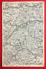 Landkarte AK Marskarte ELSASS Markirch, Rappoltsweiler, Kaysersberg  ( 8718