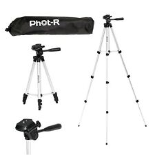 Phot-R 127 cm Professional 4-Section Aluminium Photo Video Tripod with 3-Way ...