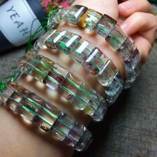 Natural Phantom Ghost Quartz Crystal Gemstone Bracelet 14*12mm