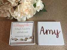 30th Personalised Birthday Gift 925 Silver Bracelet Jewellery Gift Box Friend