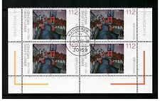 GERMANY DEUTSCHLAND 2002 PAINTING KIRCHNER BLOCK OF 4 FIRST DAY ISSUE HANOVER